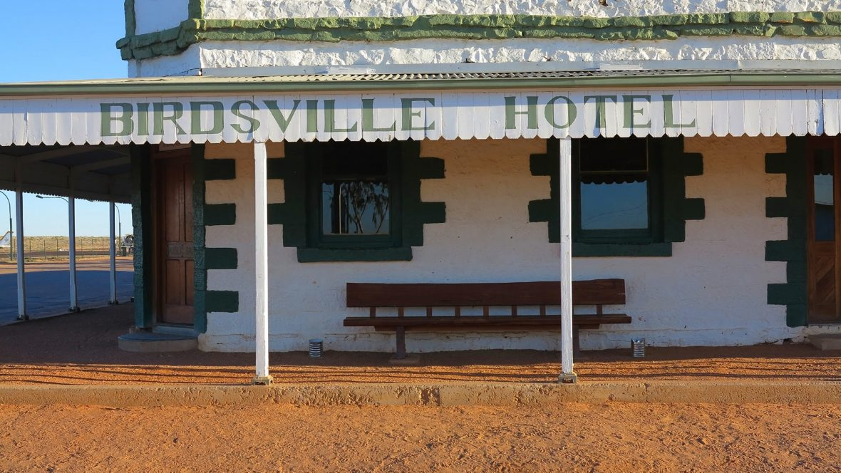 A hotel in the Simpson Desert.