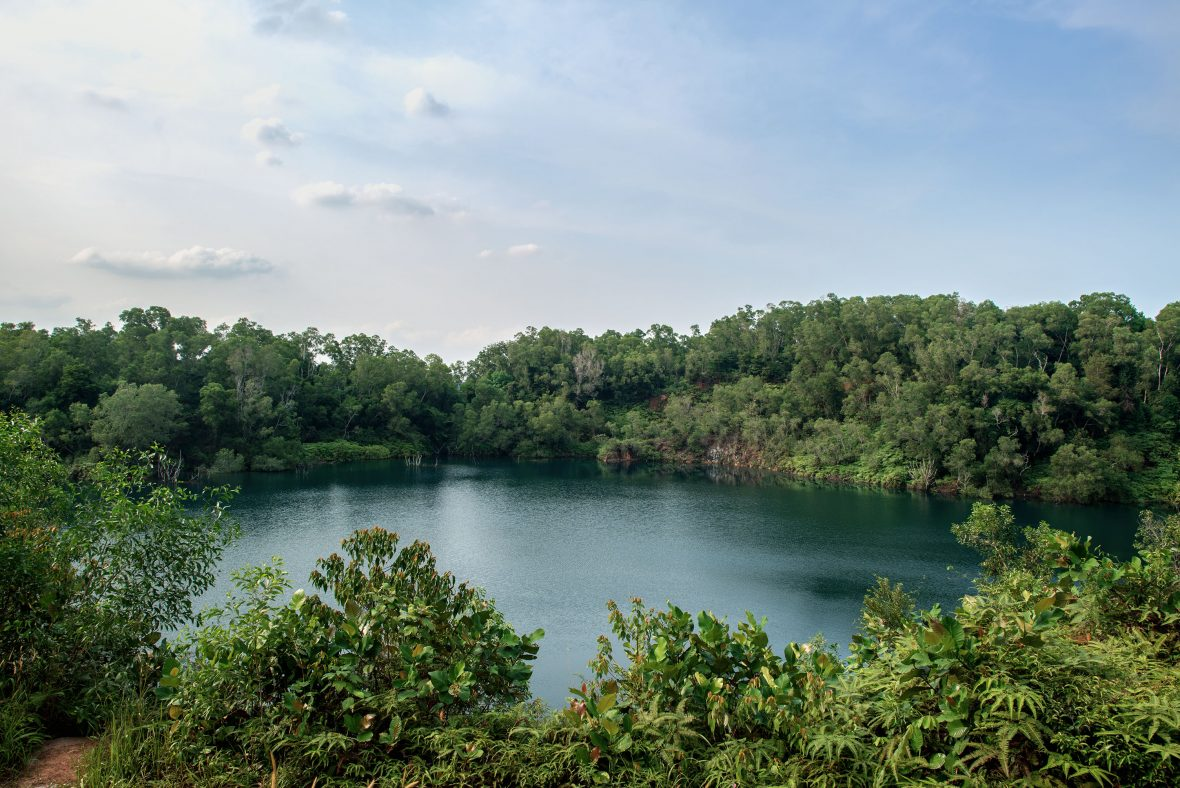 Pulau Ubin, an island northeast of mainland Singapore, is often referred to as Singapore's last 'kampung' (village).