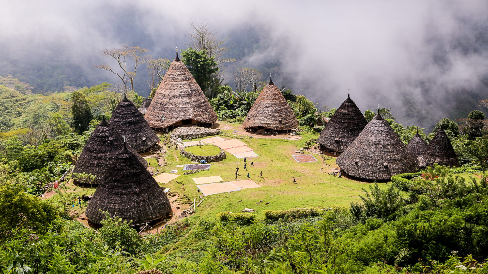 Thatched wooden huts seen during one of the Adventure Academy trips.