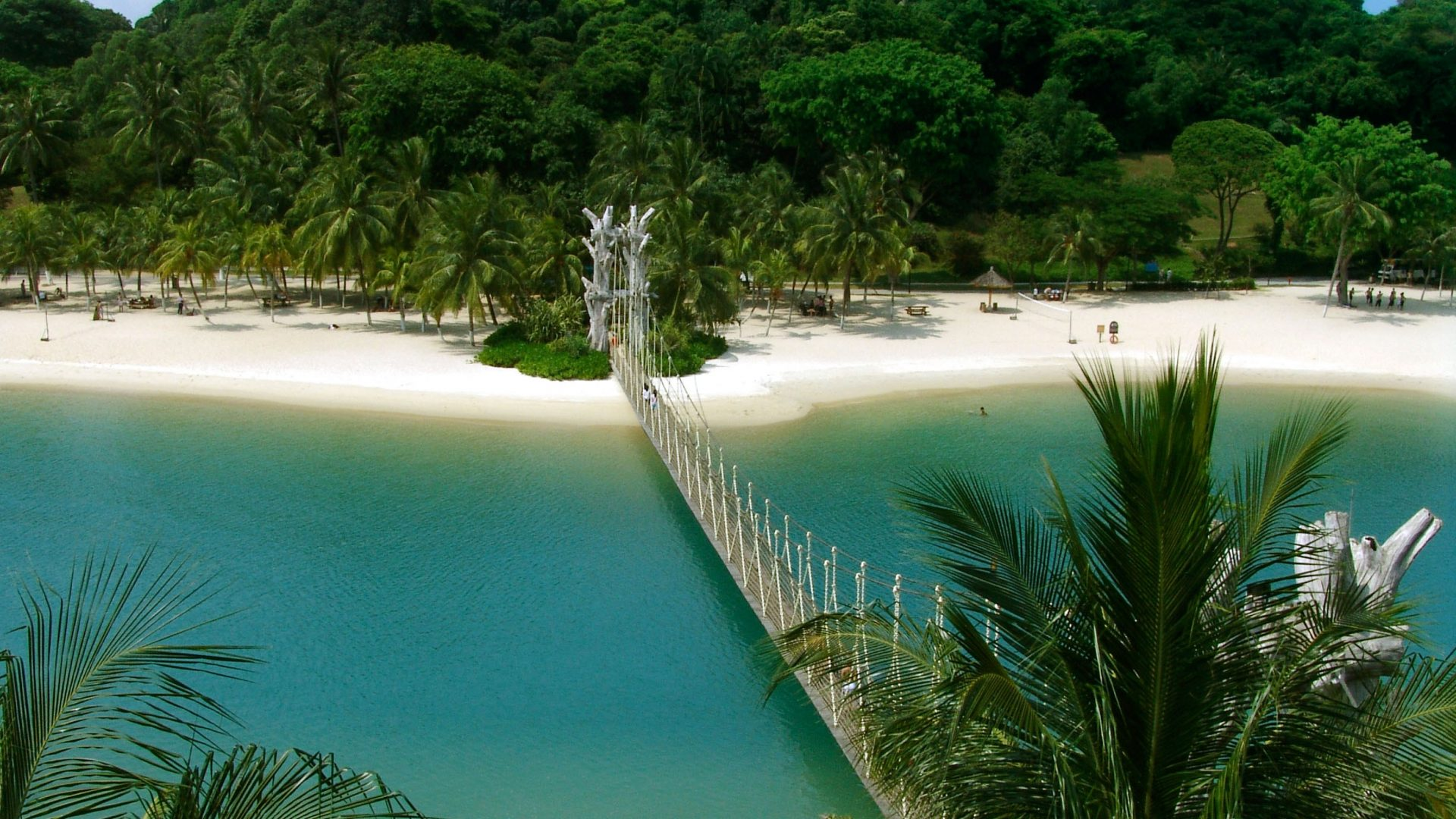 The palm-fringed, white-sand beaches of Sentosa Island, Singapore: solo travel feature