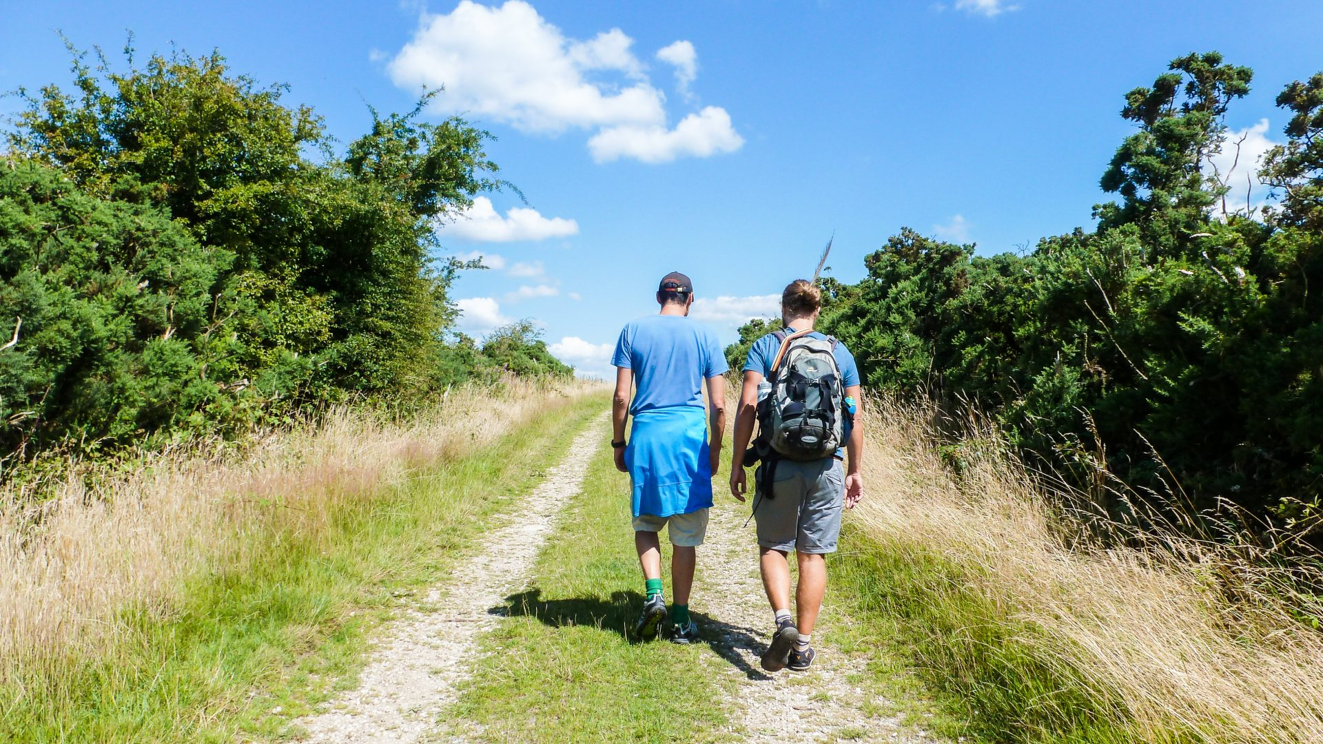 Experiencing nature: Adrian Kowal and Andres Roberts leading a walk