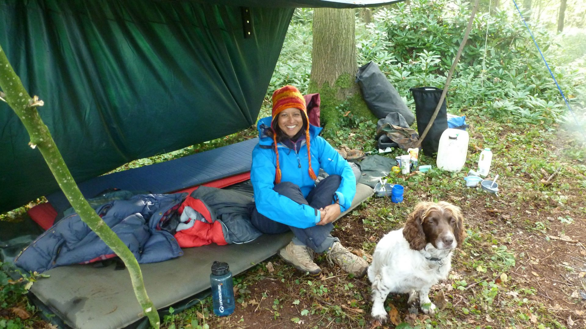 Experiencing nature: After a night of wild camping under the tarp from Slow Paddle in Search of Otters