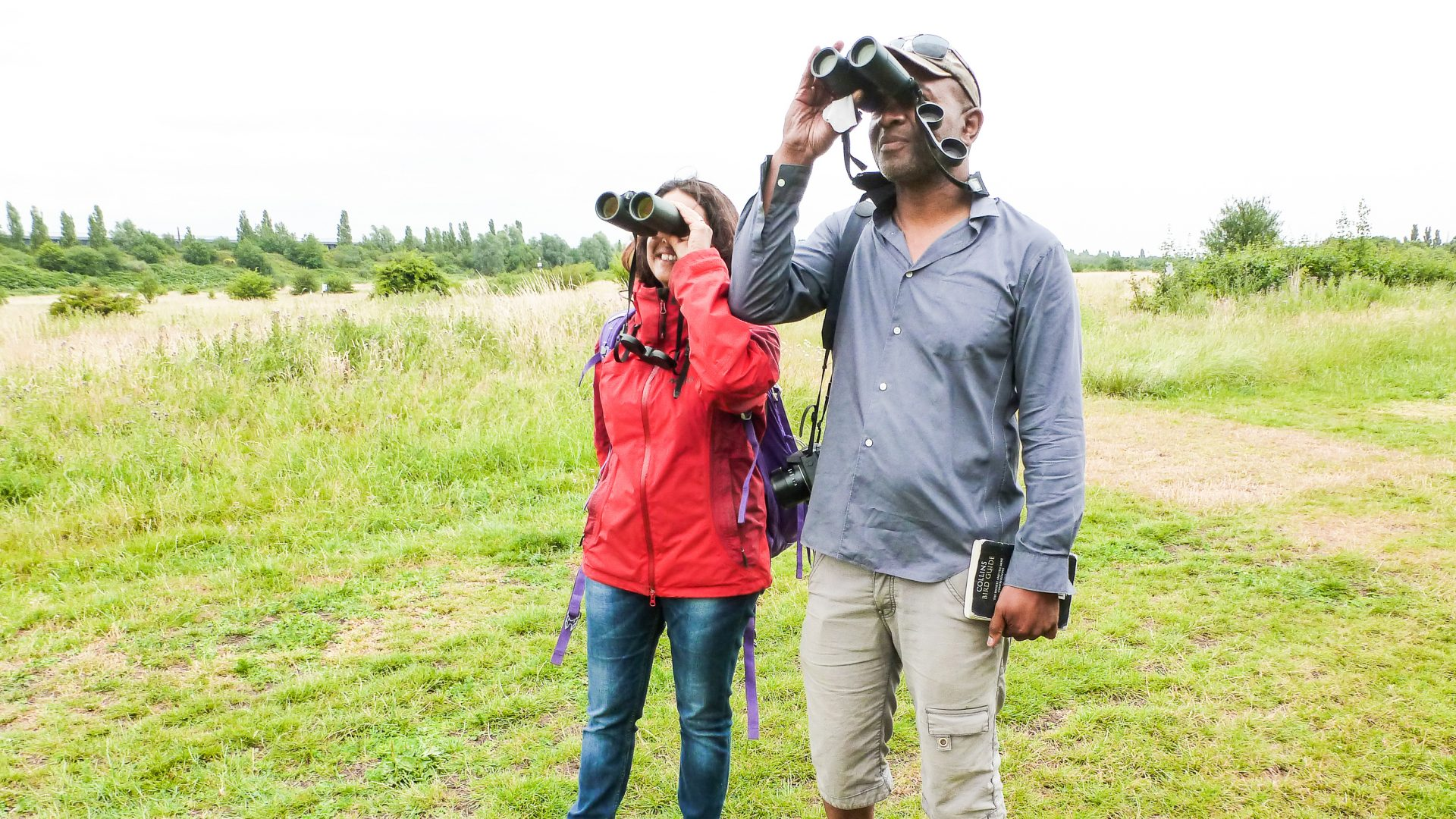 Experiencing nature: Jini and urban birder David Lindo birdwatching in Wormwood Scrubs, London