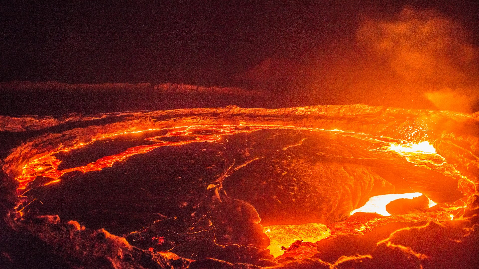 Hot Lava at the volcano Erta Ale in Ethiopia