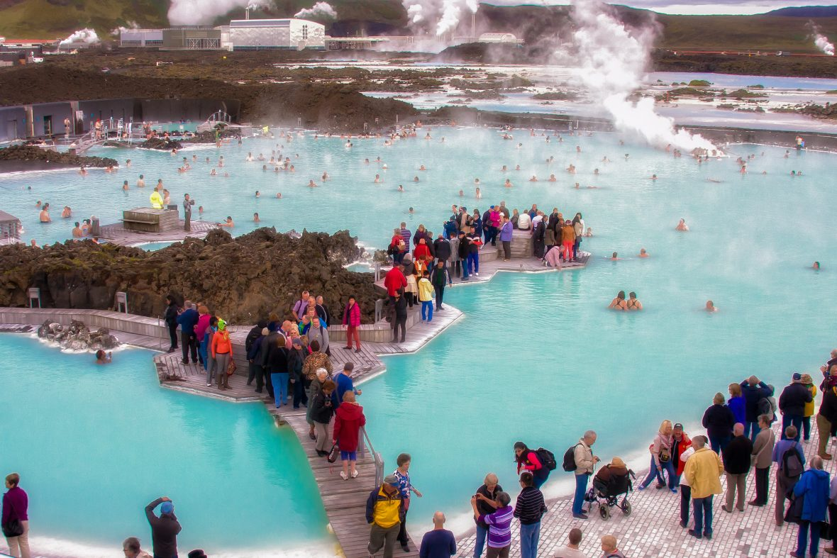 Overcrowding at the Blue Lagoon in Iceland
