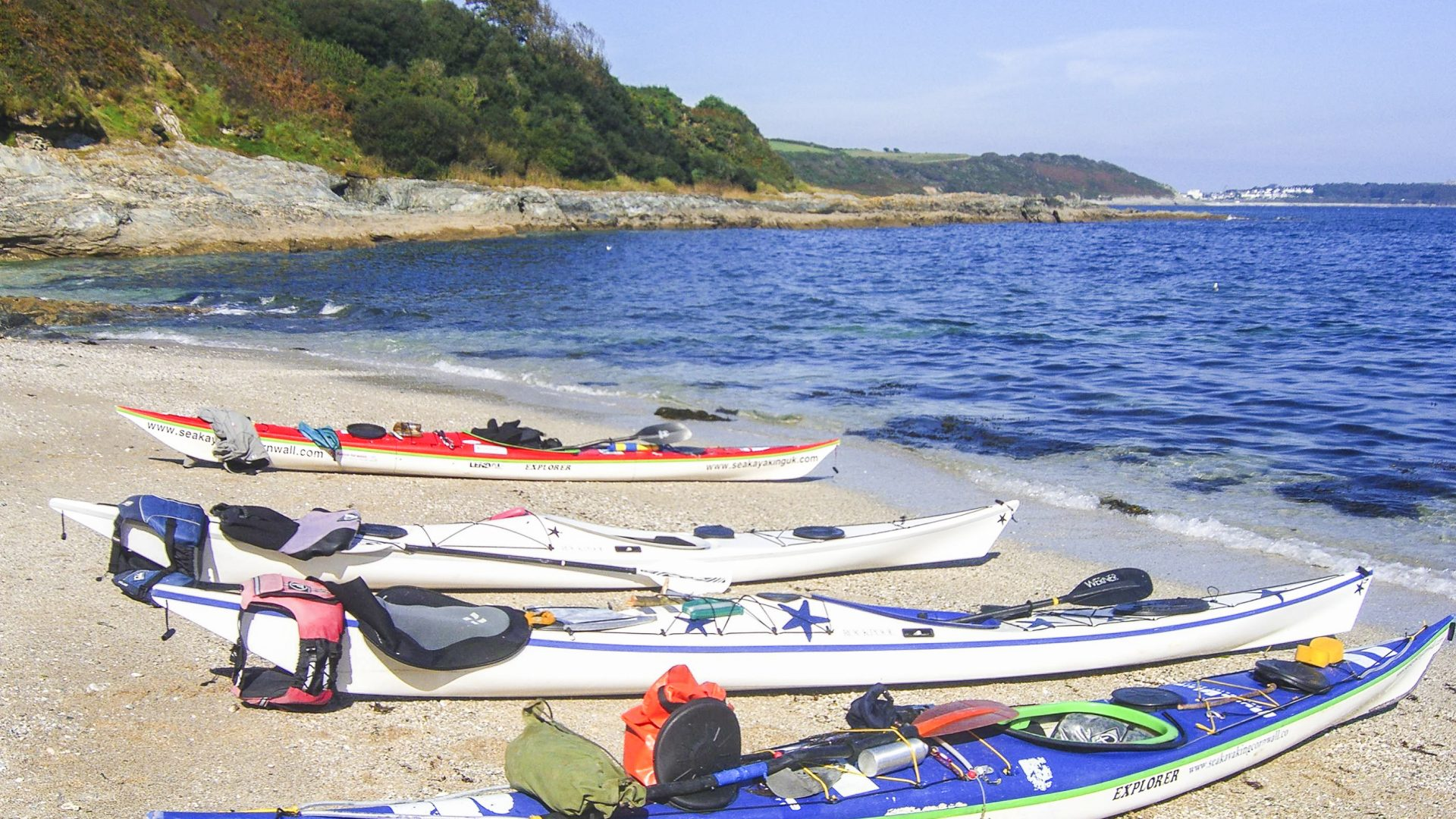 Experiencing nature: Kayaks onshore from Wild Foods by Sea Kayak