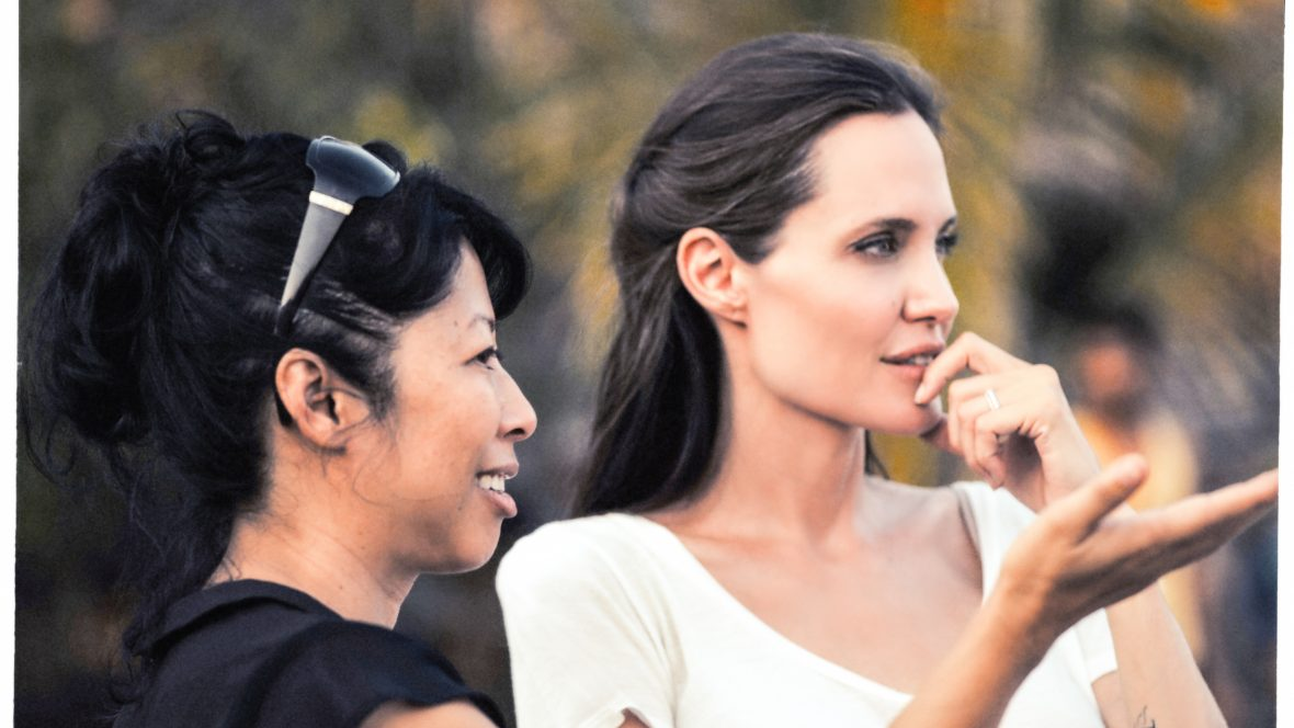 Angelina Jolie on the set of the Netflix film 'First they killed my father' in Cambodia.