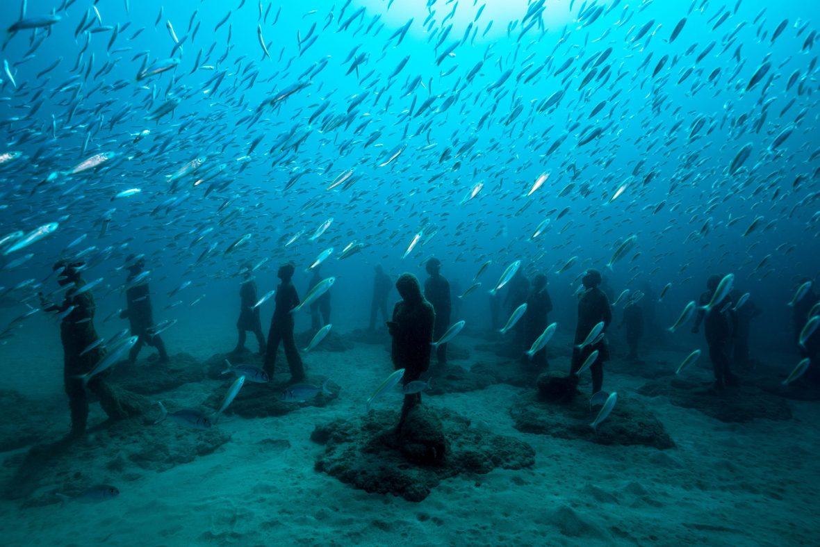 A deep dive into an underwater art world