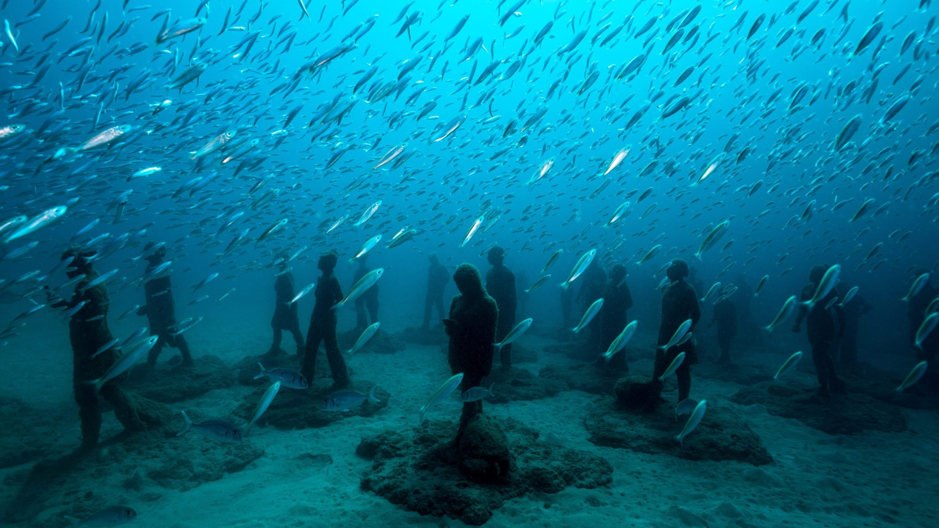 A deep dive into an underwater art world