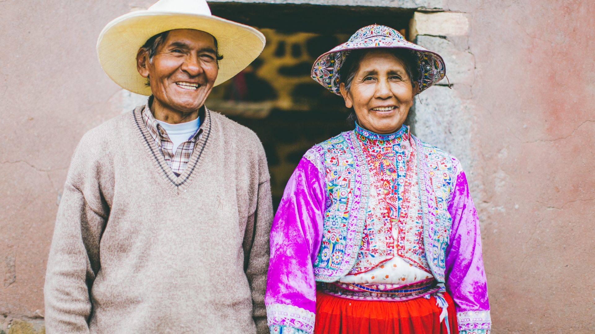 Señor Pedro and Señora Julia, dressed in bright colors and wide brimmed hats, greeting us with the most inviting smiles.