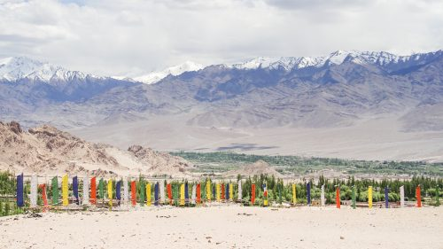 Prayer flags in the Indus Valley, Laddakh
