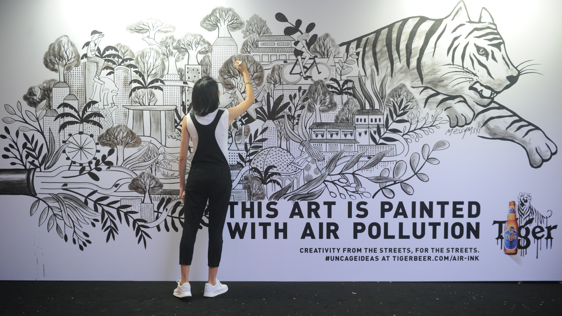 How a pop-up project is turning air pollution into street art
