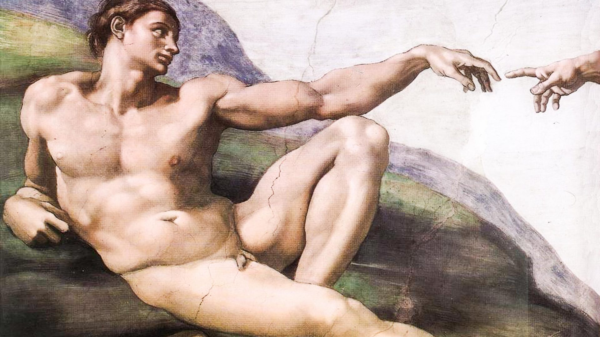 'The Creation of Adam' is one of the nine ceiling panels in the Sistine Chapel depicting scenes from the book of Genesis.