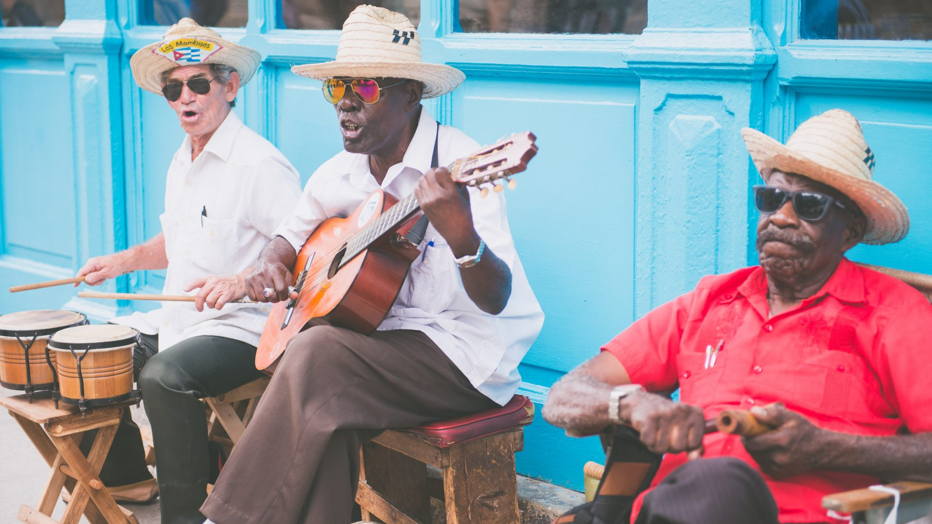 Musicians perform in the old town of Havana, Cuba.