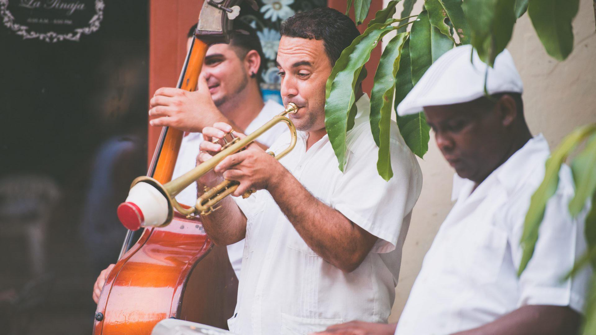 Musicians perform in Old Havana, Cuba.