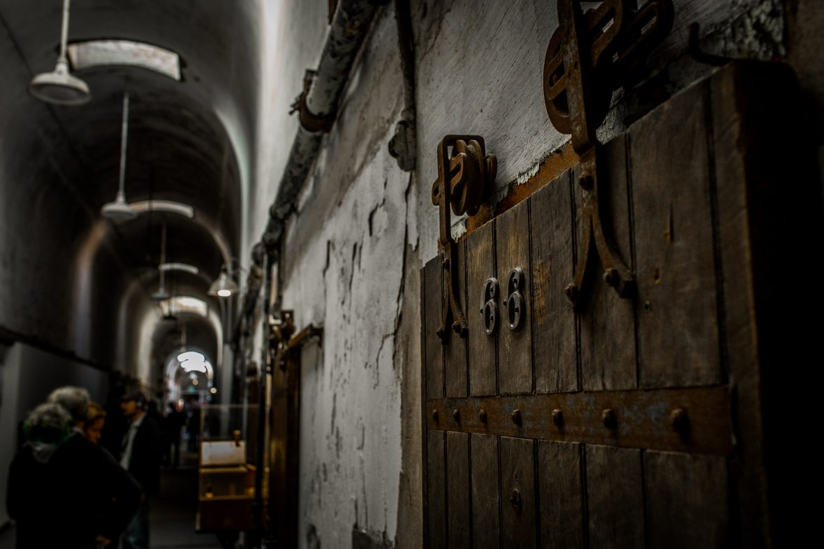 Cell block one at Eastern State Penitentiary where, for over 100 years, men were housed.