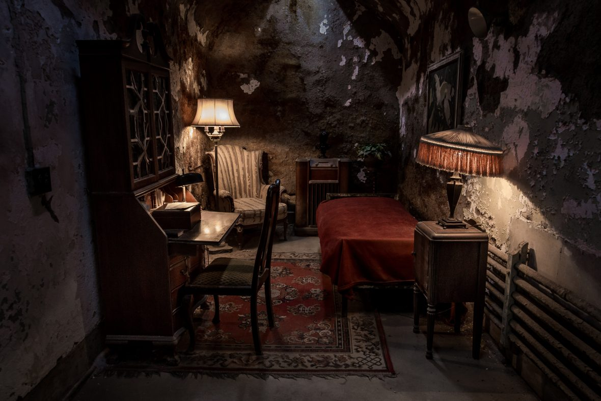 Al Capone's cell had luxuries which others weren't afforded at Eastern State Penitentiary.