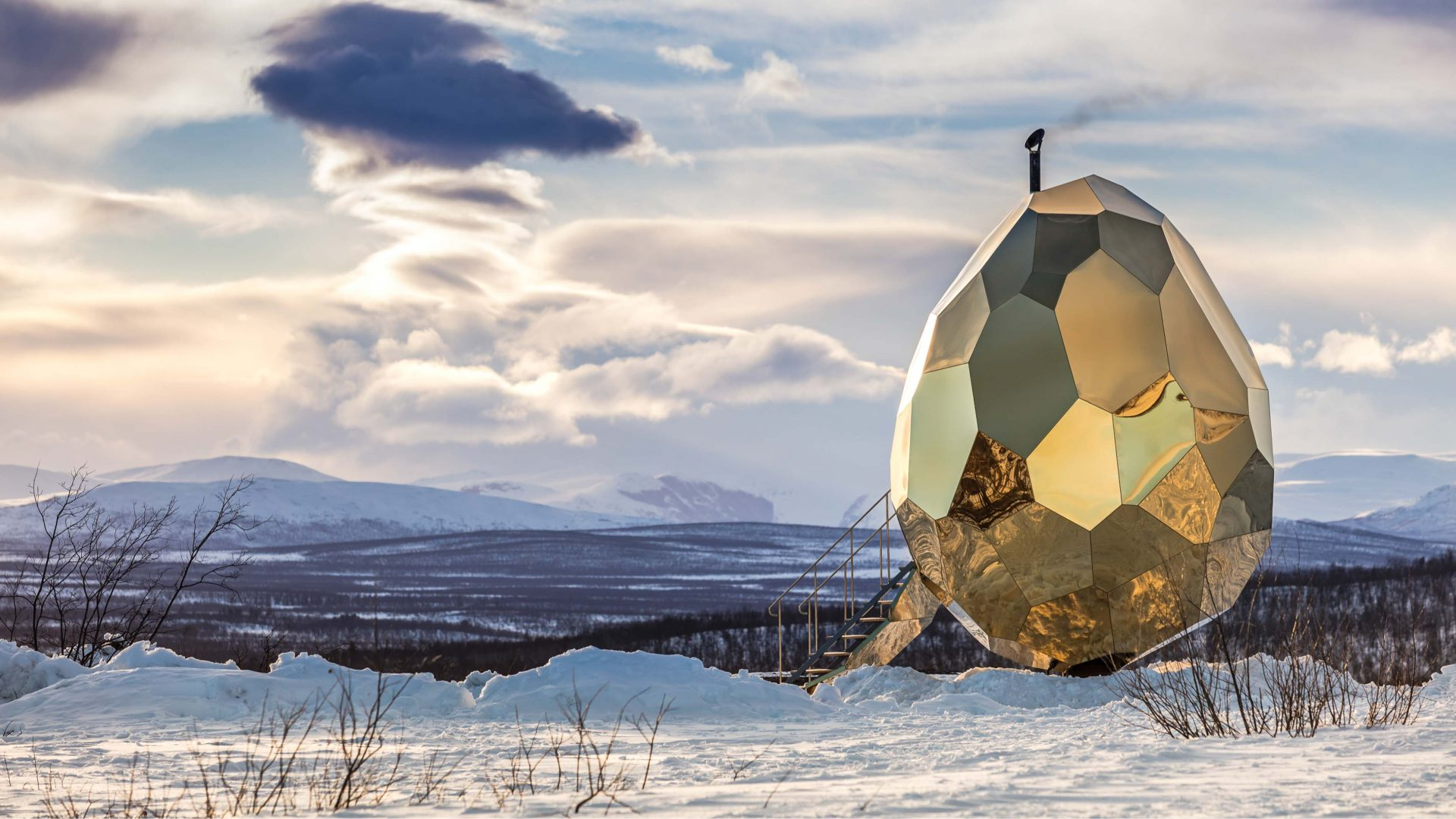 How this giant golden egg is helping a sinking town in Sweden