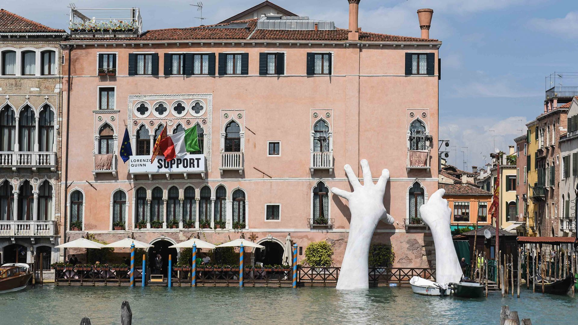 How the art world is fighting climate change for Hotel design venise