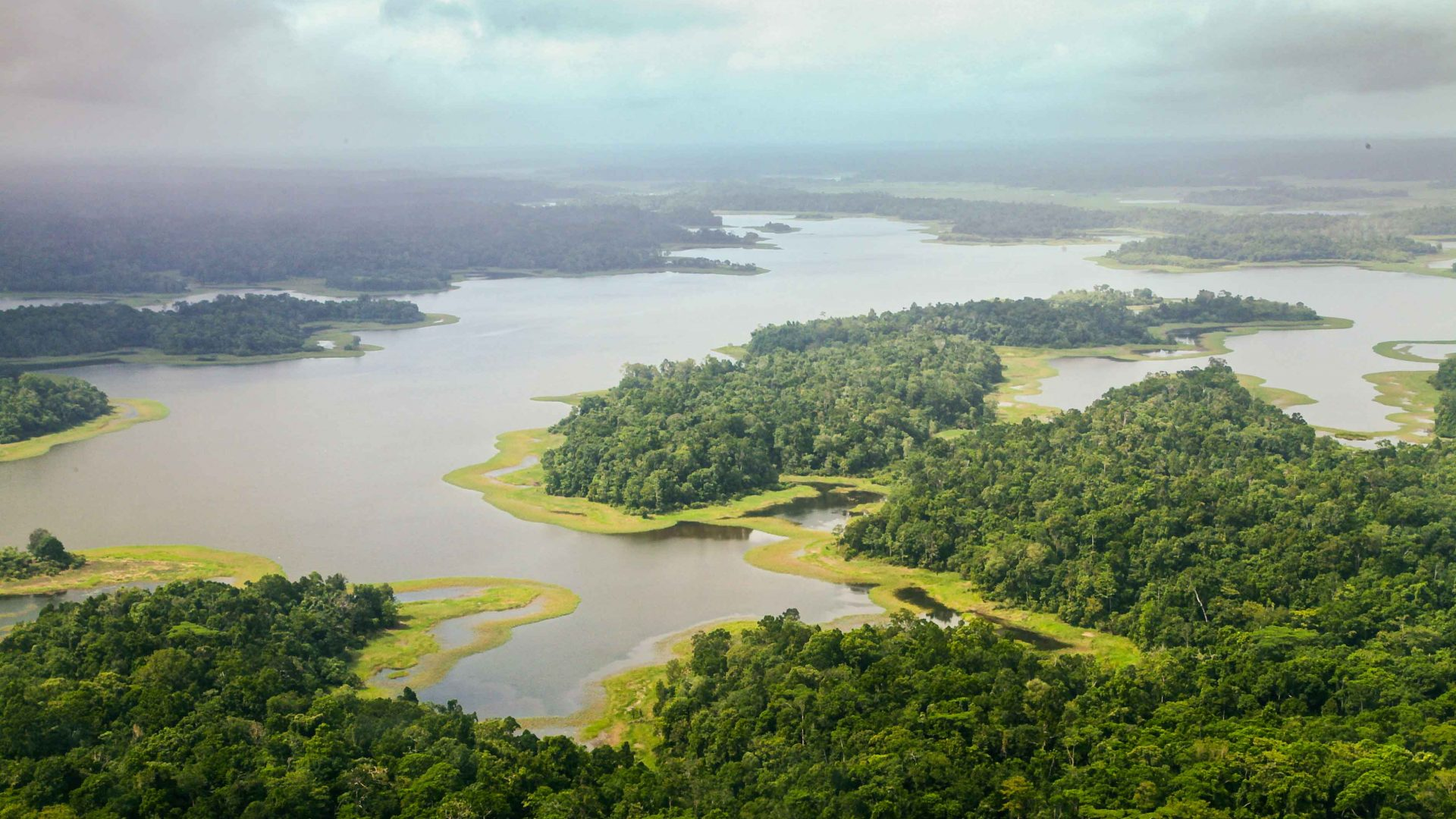 A view over Lake Murray in PNG.