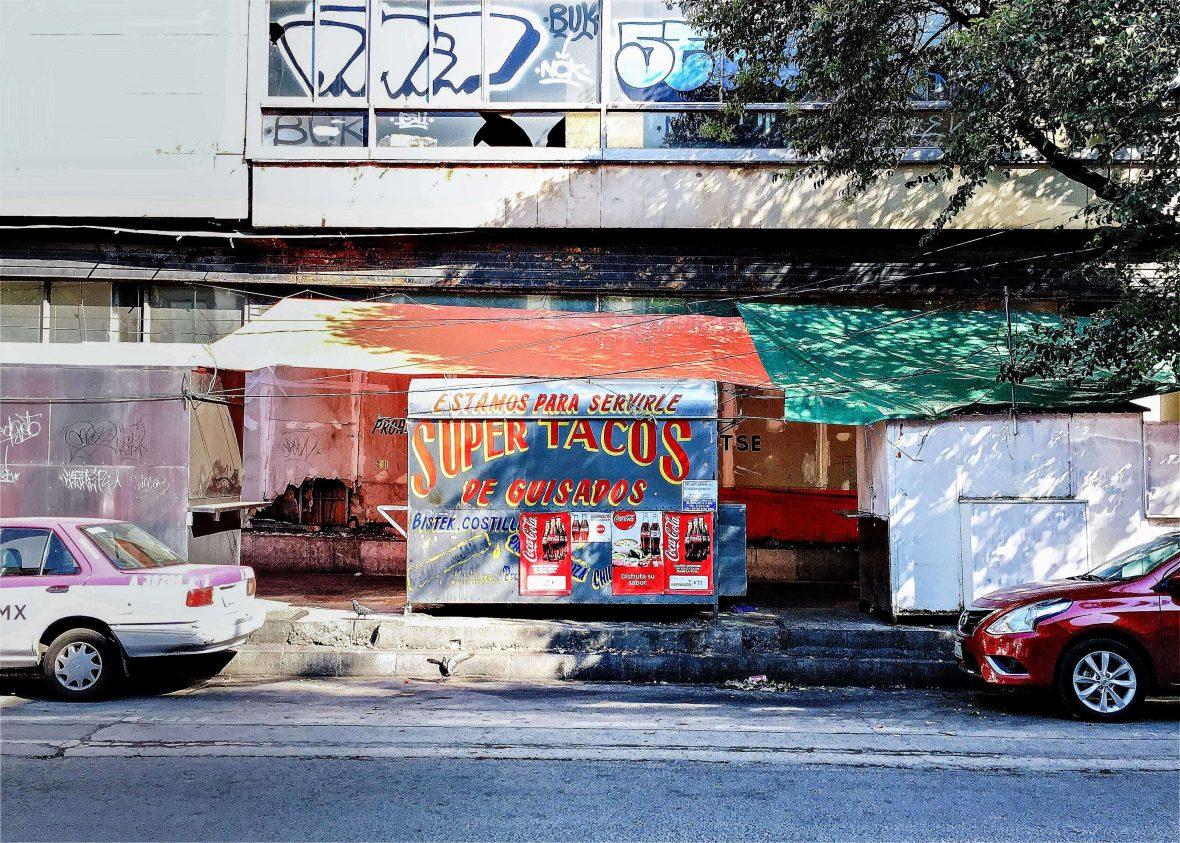 Taco trucks in Mexico City.