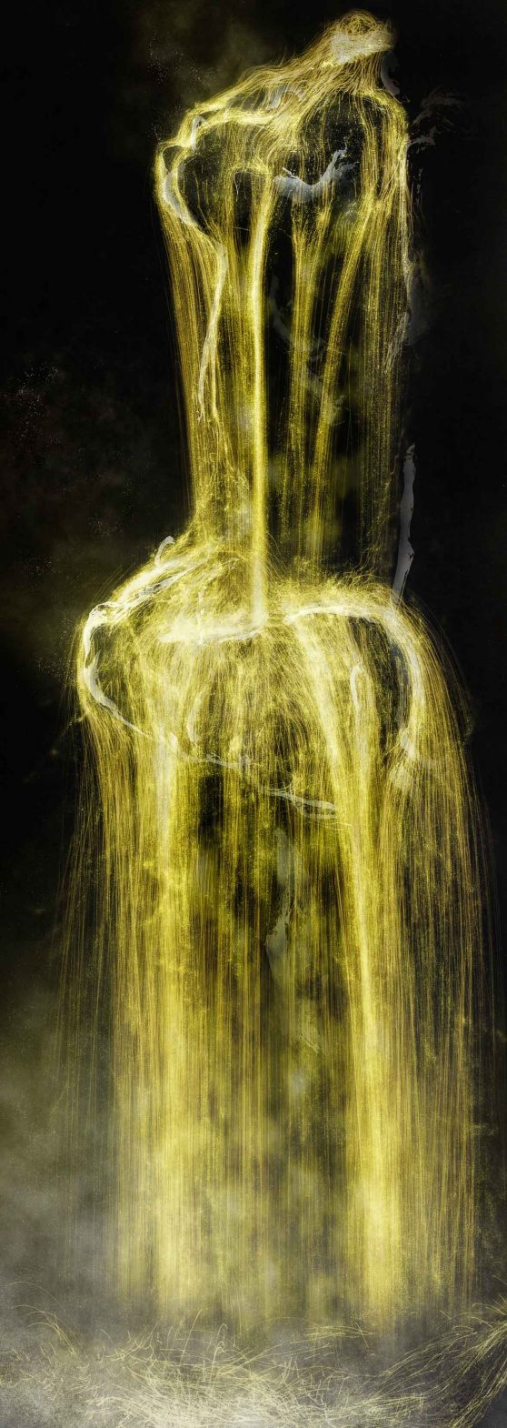 Universe of Water Particles – Gold teamLab, 2016, Digital Work, 5 channels, Continuous Loop.