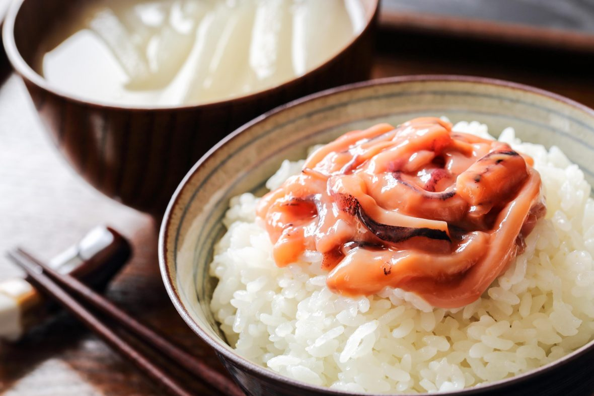 Shiokara and Rice, Japanese cuisine