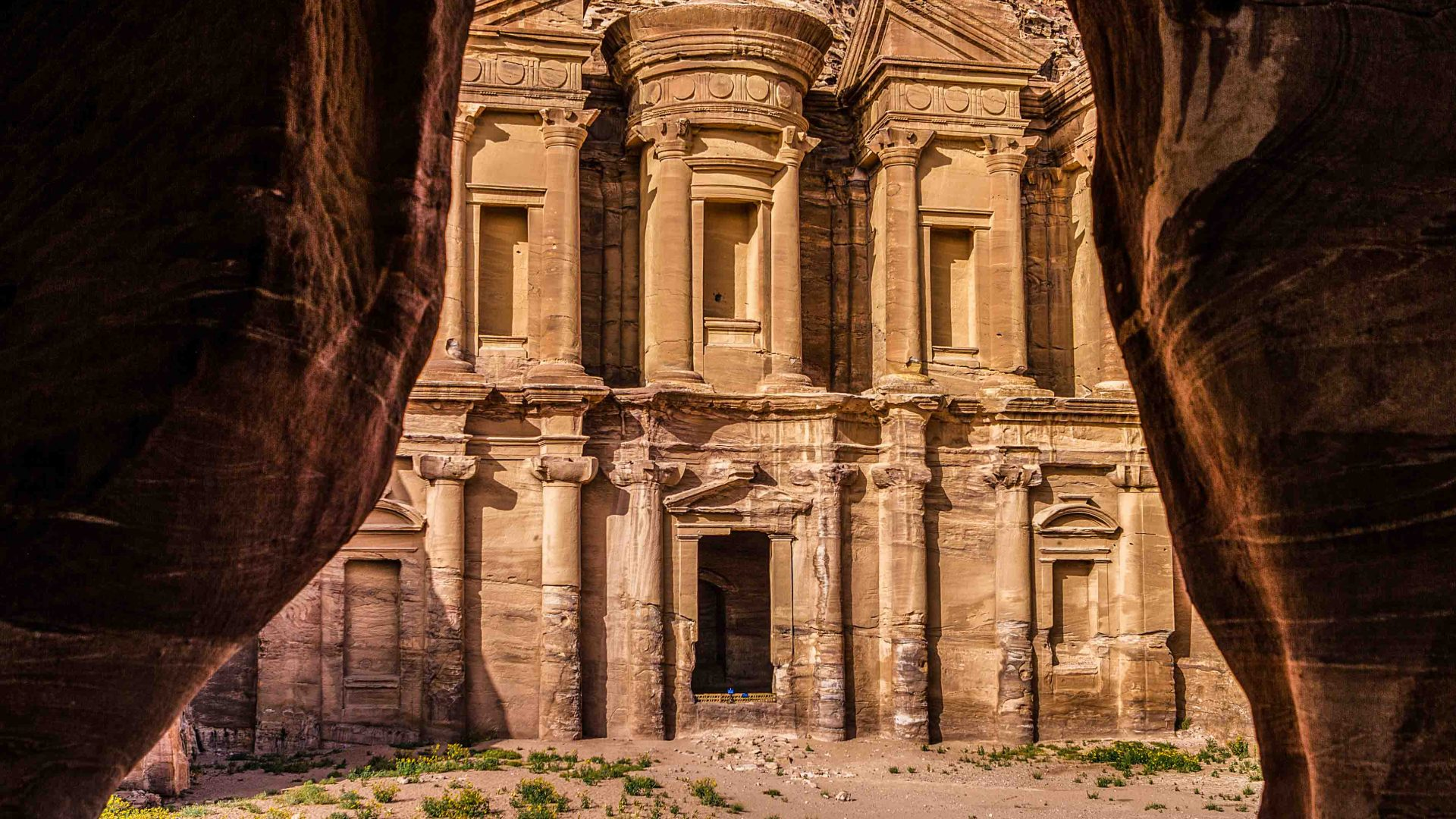 The remains at Petra stand tall, one of the many highlights of the Jordan Trail.