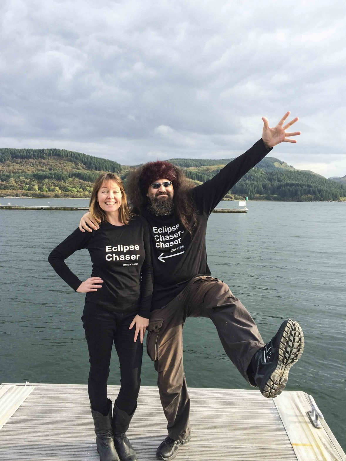 Meet eclipse chaser Dr. Kate Russo and her partner.