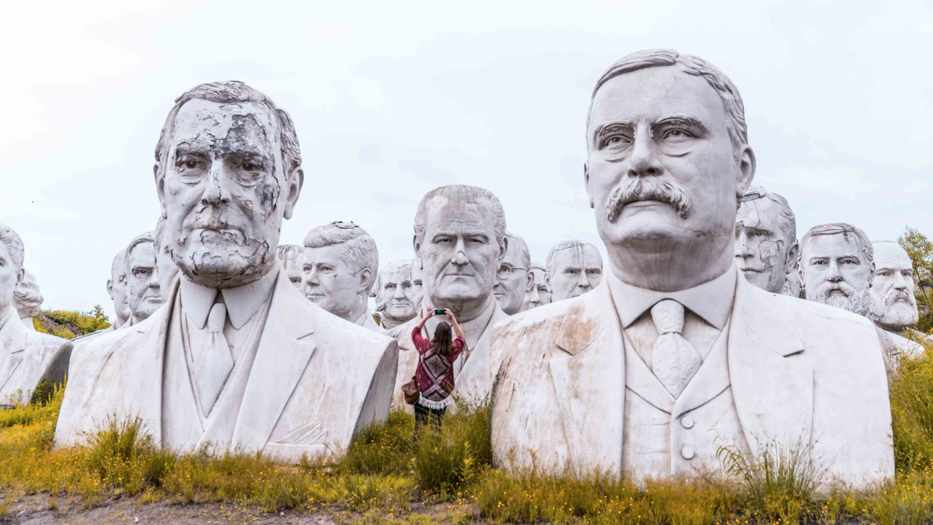 How 43 president heads ended up abandoned on Virginia farmland