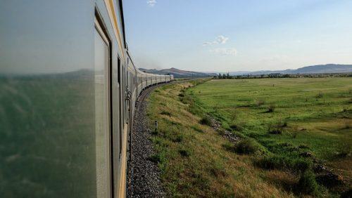 The Mongolian steppe, Trans-Mongolian railway