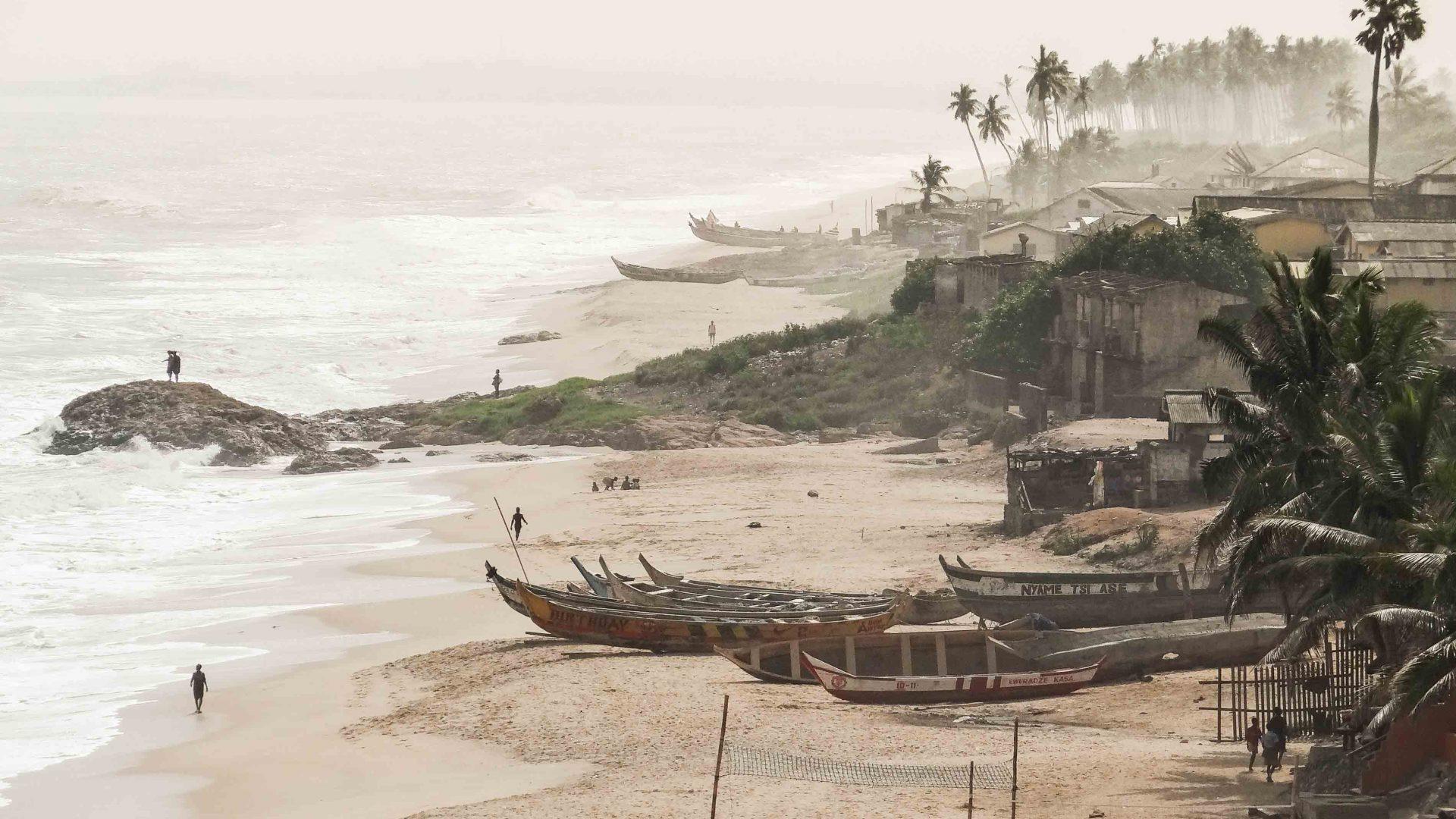 The coastline in Ghana.