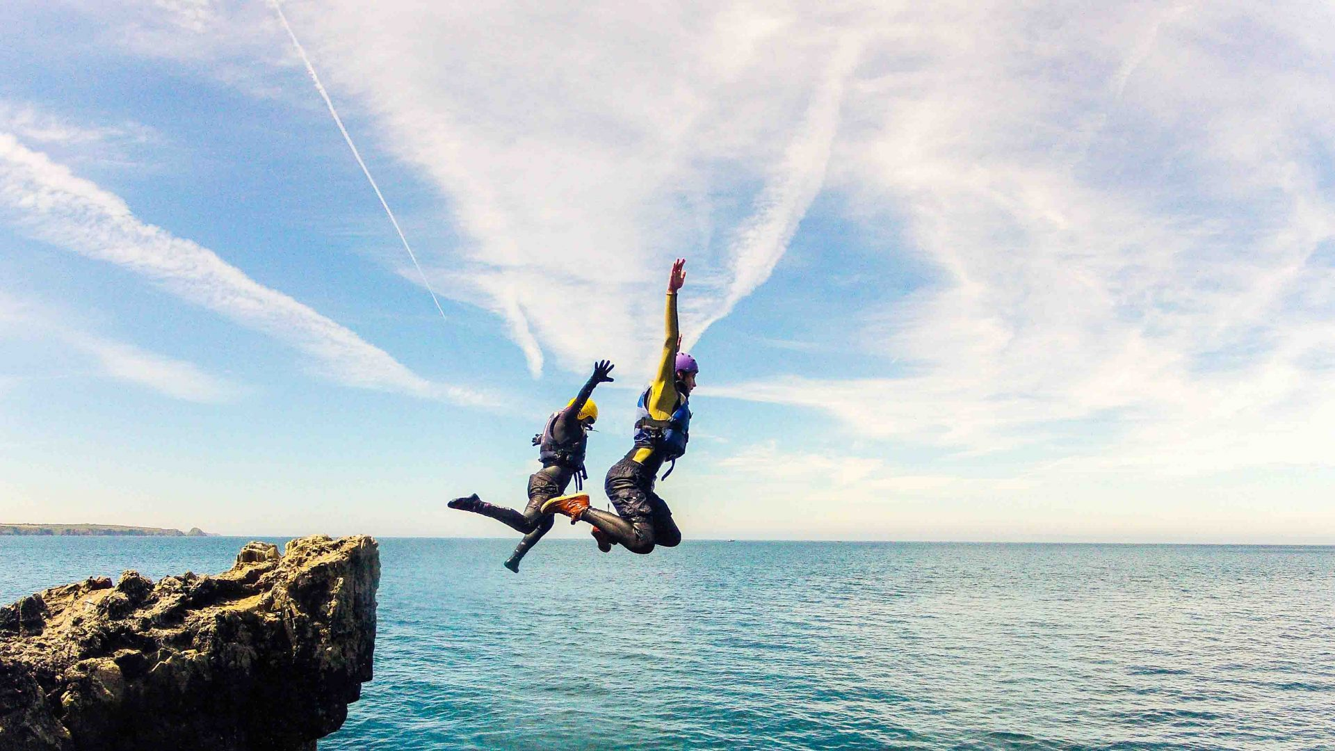 Coasteering: Why everyone's throwing themselves off a cliff