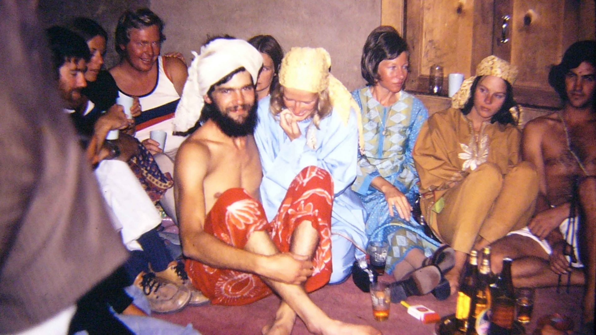 Hippy party in Kashmir in 1975