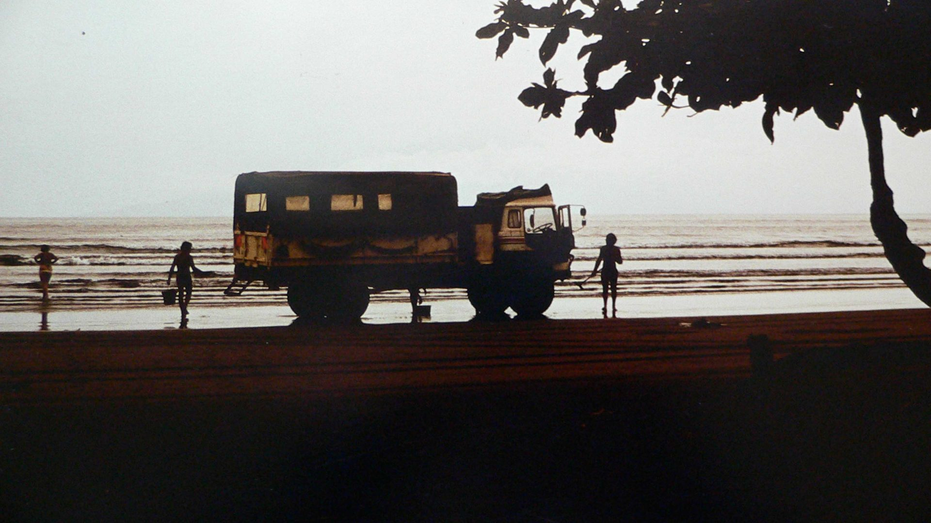An Intertrek Bedford lorry in Goa.