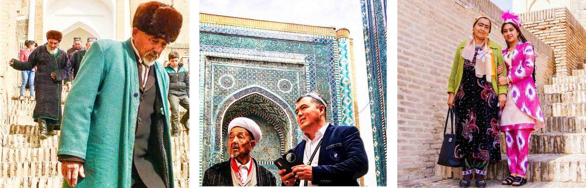 Counting the steps at Samarkand's royal cemetery, Shah-i-Zinda in Uzbekistan.