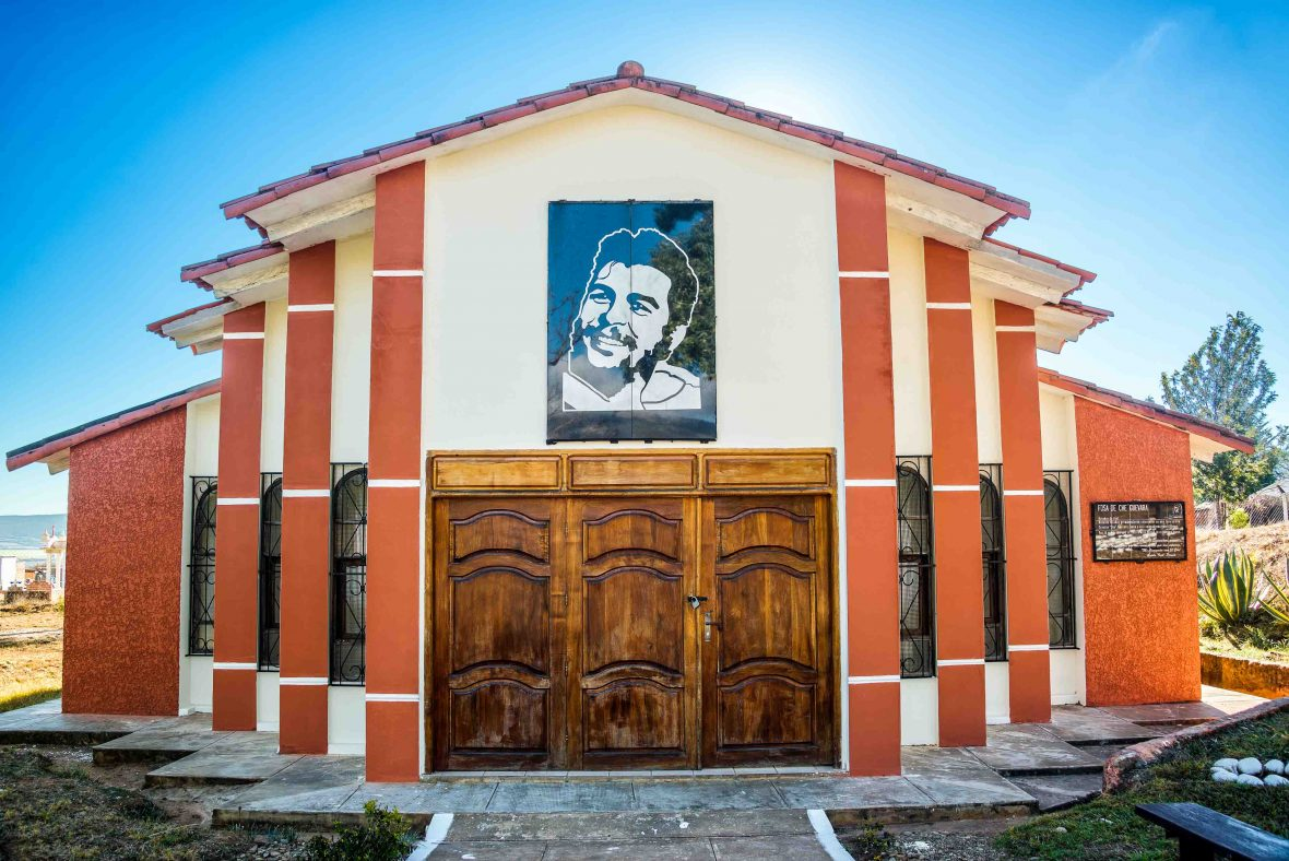 Mausoleum of the original burial spot of Ernest Che Guevara in Vallegrande, Bolivia.