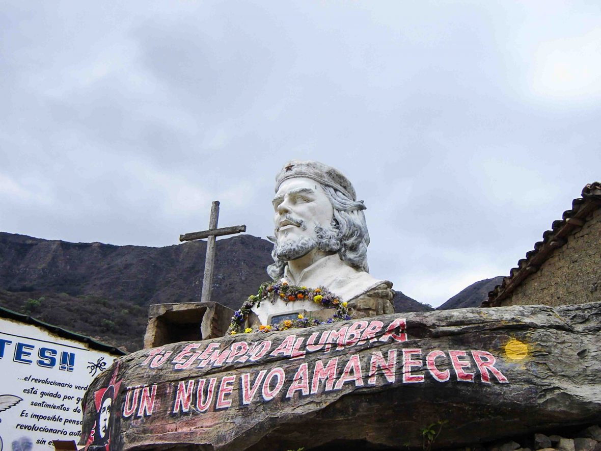 Monument to Che Guevara in La Higuera, Bolivia.