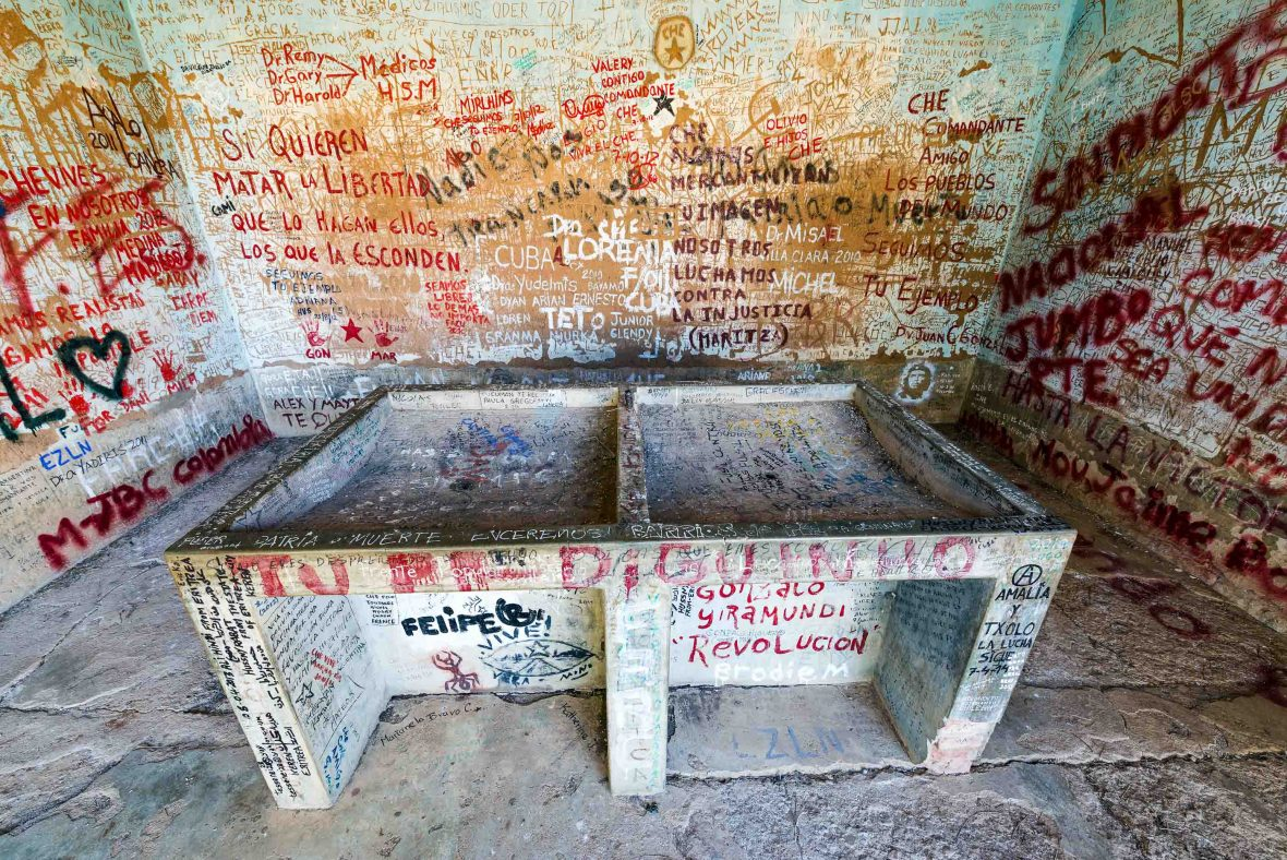 Laundry room in Vallegrande, Bolivia where the body of Ernesto Che Guevara was publicly displayed after his death in 1967.