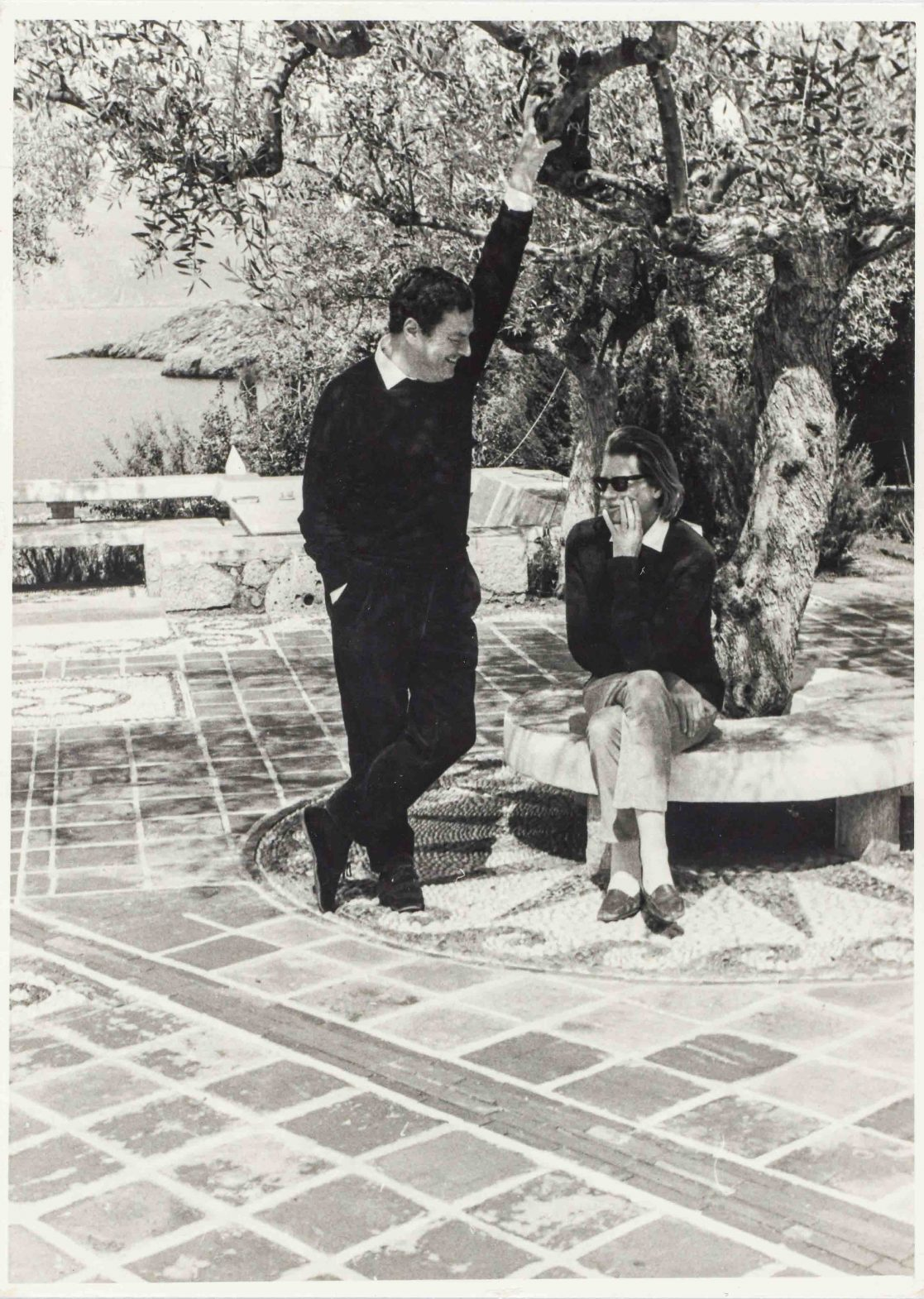 Patrick and Joan Leigh Fermor at home in Kalamitsi in the southern Peloponnese.