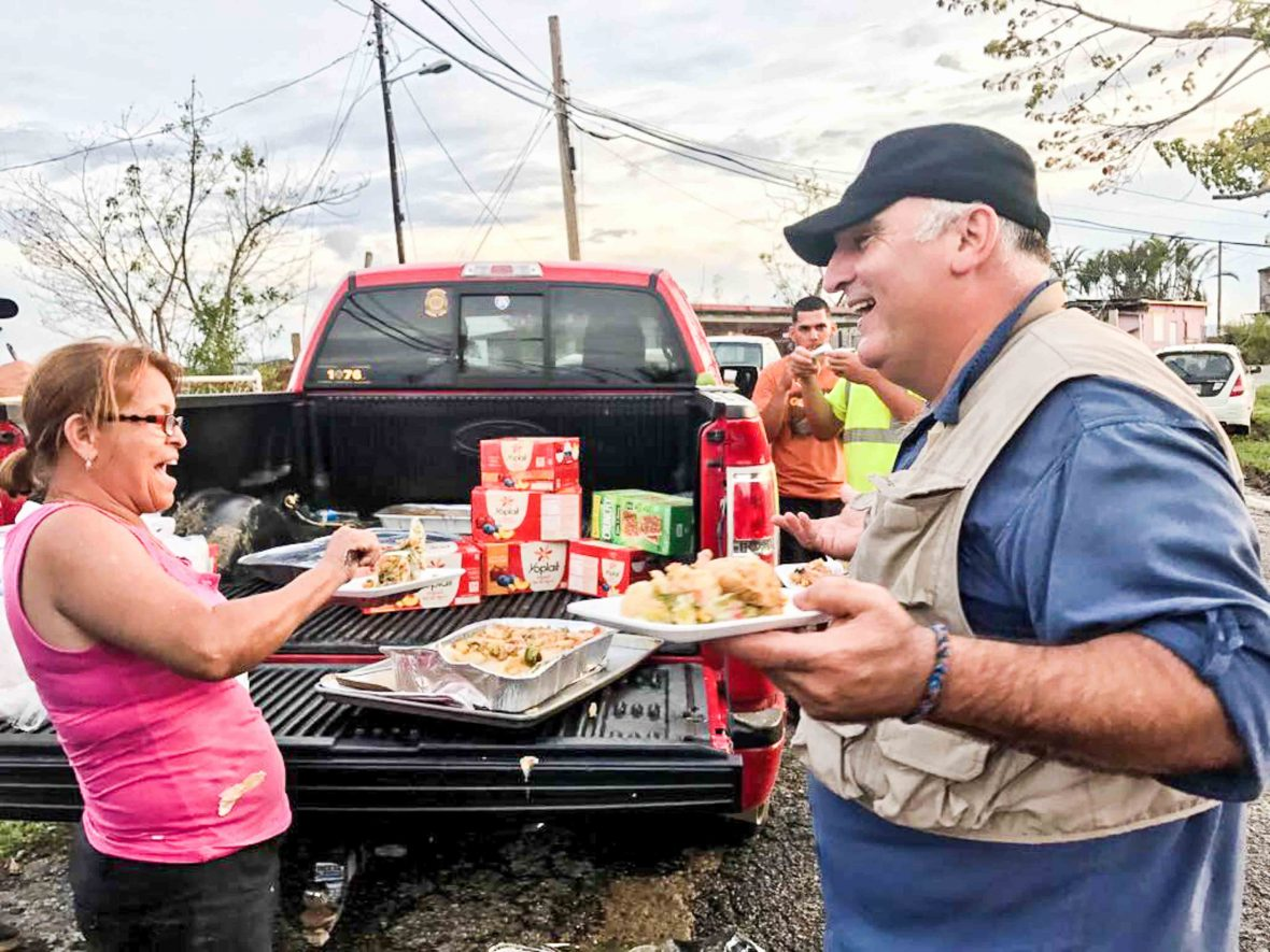 jos andrs a naturalized us citizen has now served more than one million hot meals in devastated puerto rico courtesy of world central kitchen - World Central Kitchen