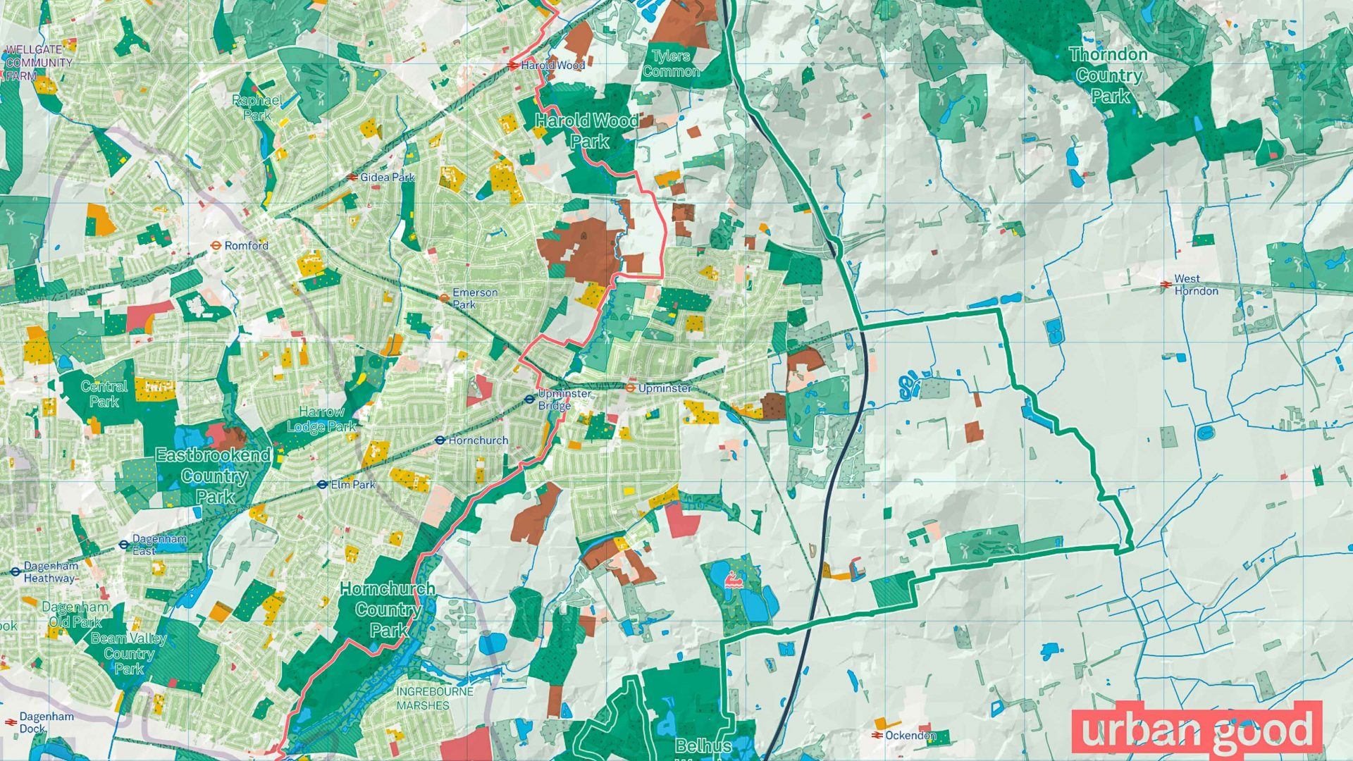 London National Park City: An Urban Good map of London National Park.