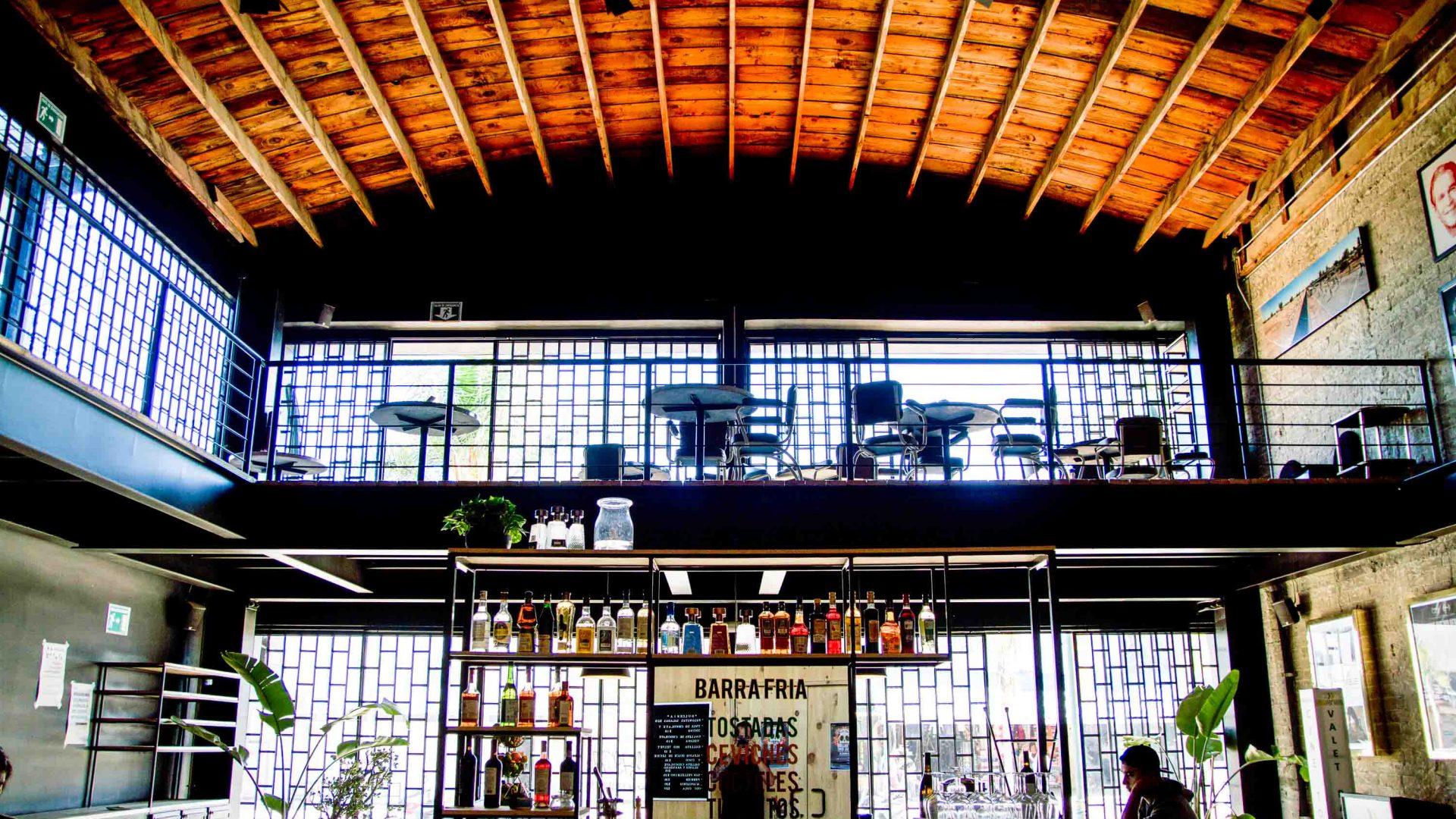 Cine Tonalá Tijuana, restaurant, cocktail bar, and art-house theater on Avenida Revolución.