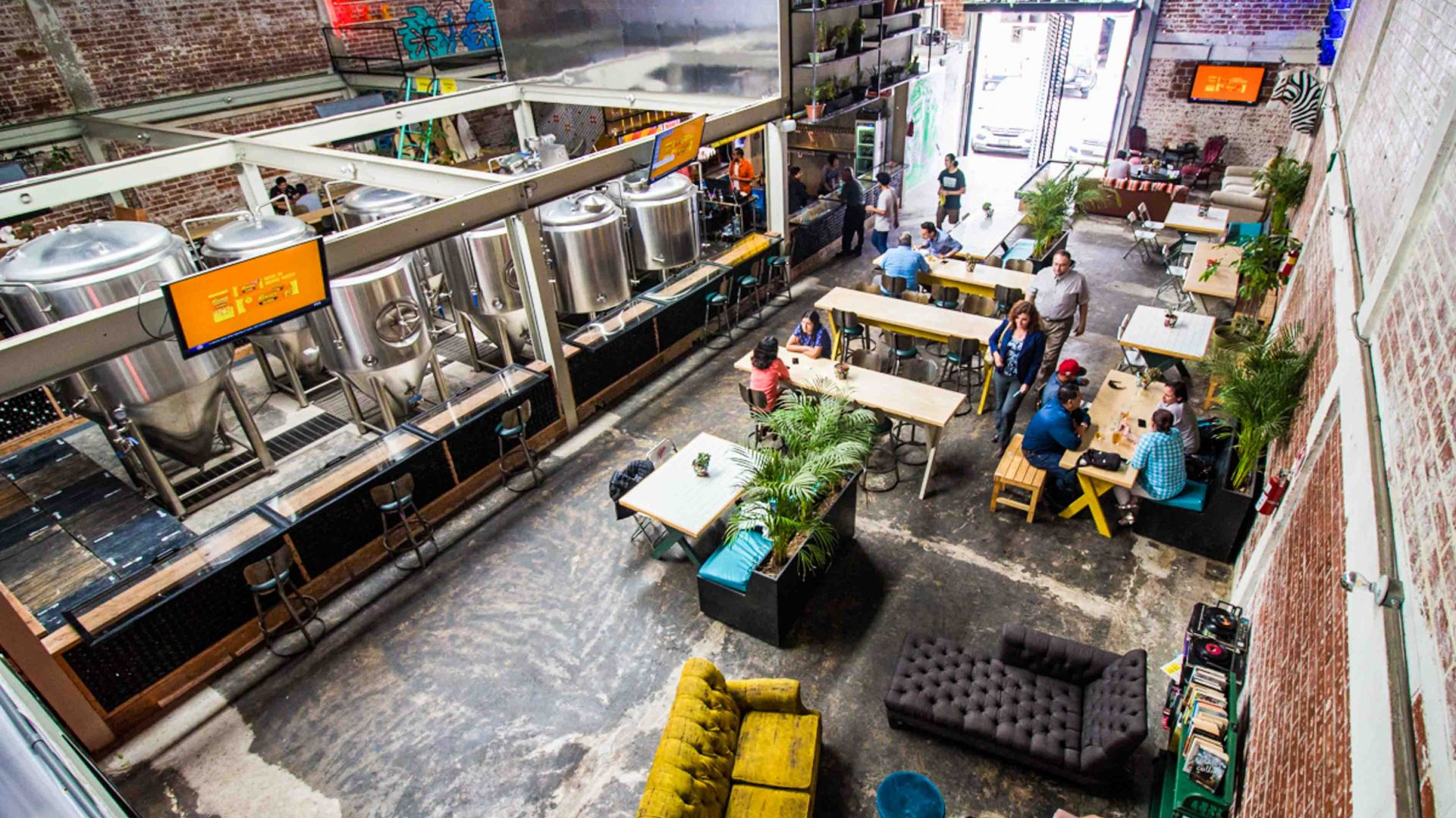 Telefonica Gastro Park, a revamped food truck park with its own on-site craft brewery.