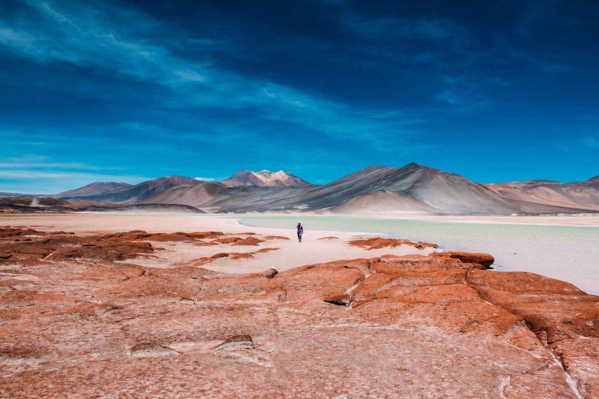 A traveler explores Chile's vast, mesmerizing Atacama Desert.