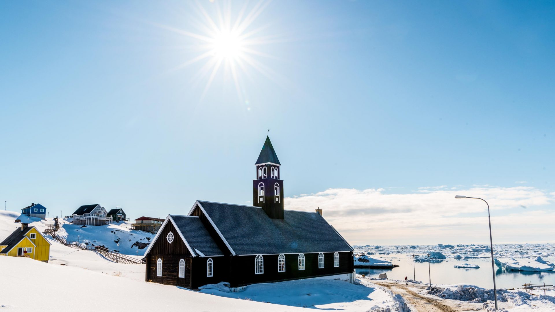 Built in the 18th century, the brown wooden Church of Zion (Zions Kirke) remains one of the most iconic (and most photographed) churches in Greenland. It was said to be the largest man-made structure in Greenland at the time of its inception.