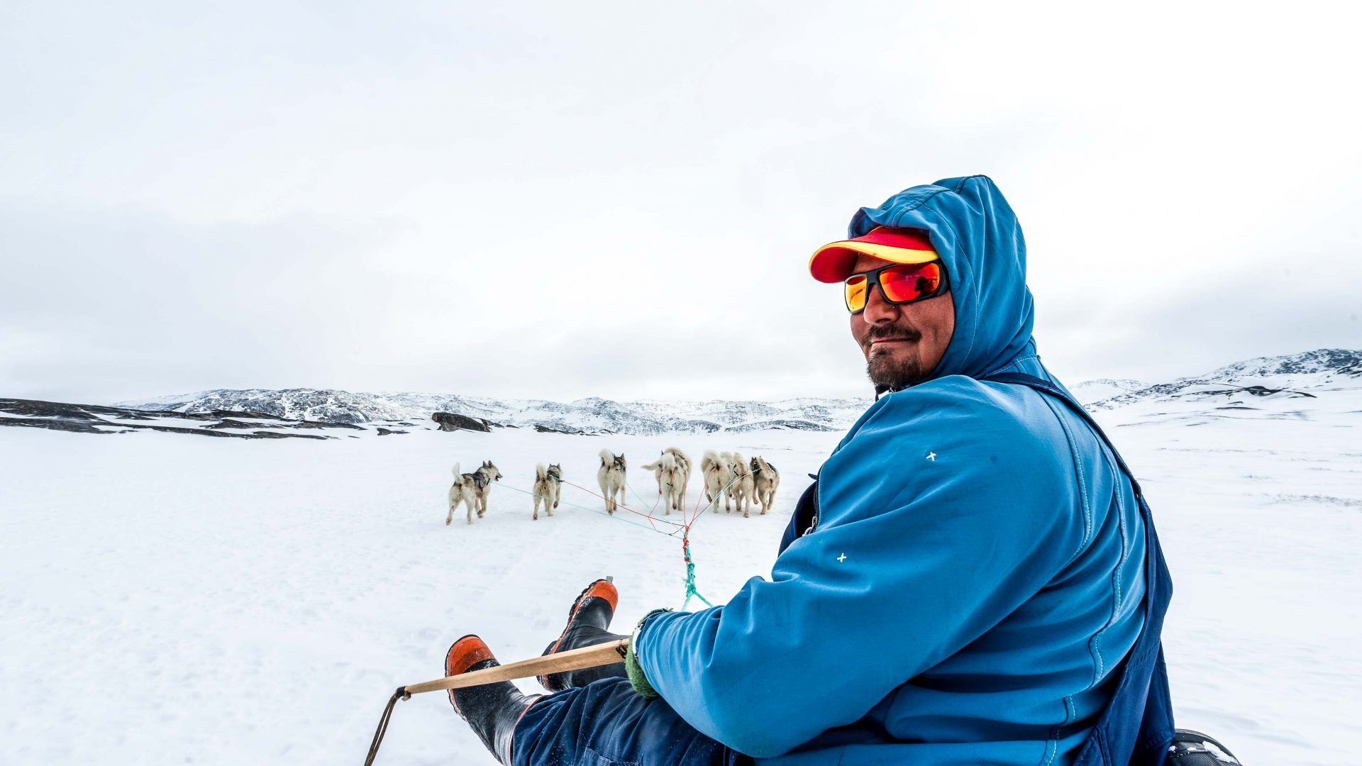 Sledding in Ilulissat, Greenland.