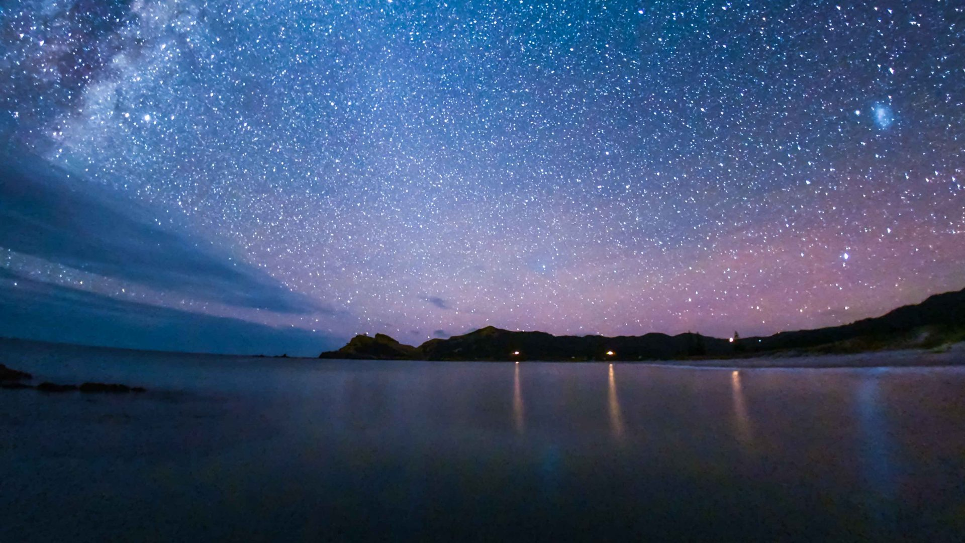 The night sky over Great Barrier Island, the world's first Dark Sky Sanctuary island.