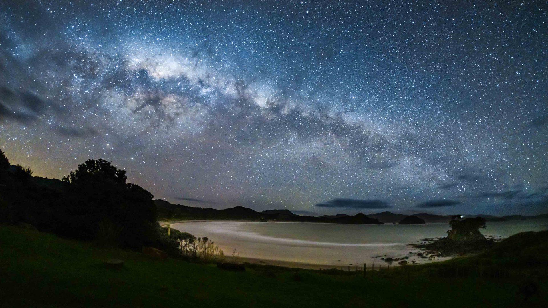 The night sky over Great Barrier Island, the world's first Dark Sky Sanctuary island.