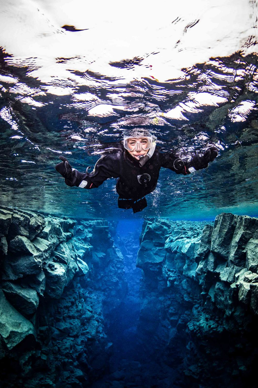 Snorkeling in the extraordinary geology of Iceland's Silfra fissure.